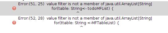 scala的foreach使用java数据类型出错